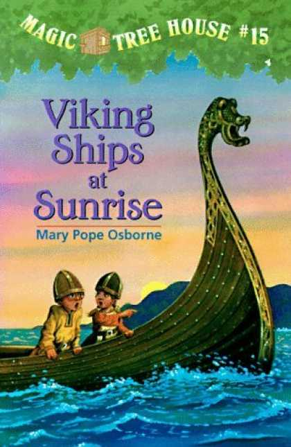 Barcos vikingos al amanecer - Viking Ships at Sunrise, Del Sol Books